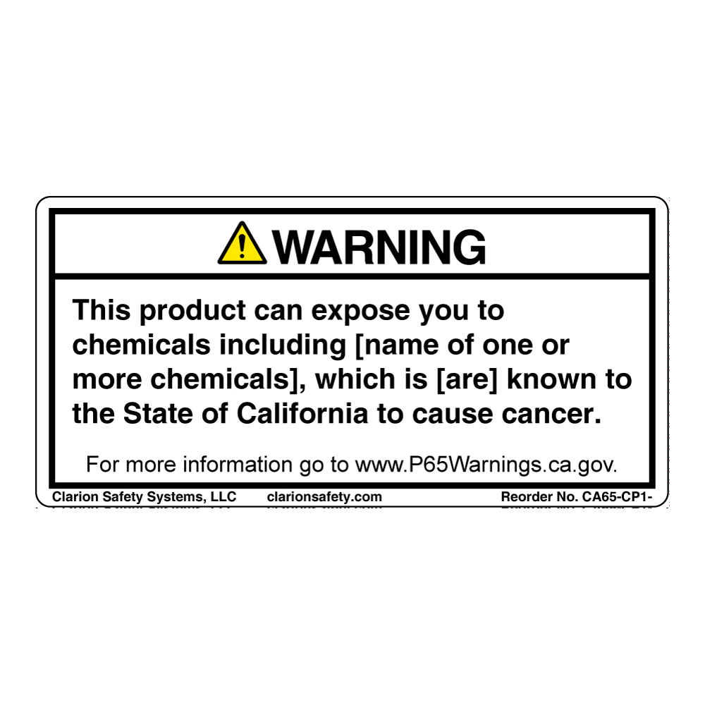 Prop 65 Labels