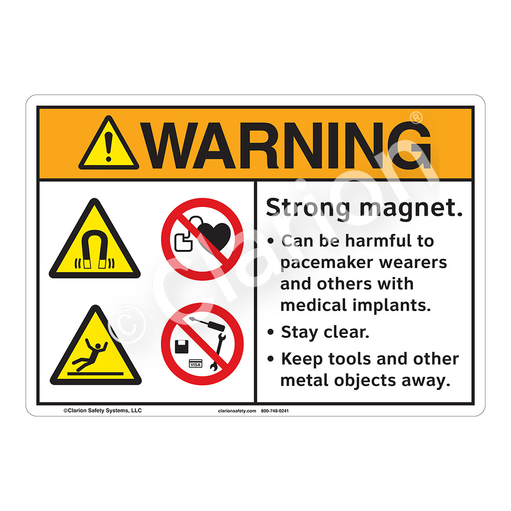 Accident prevention signs clarion safety systems warningstrong magnet nvjuhfo Gallery