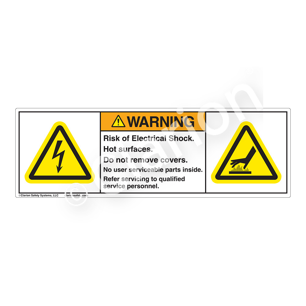 Electrical hazard safety labels clarion safety systems warningrisk of electrical shock buycottarizona Choice Image