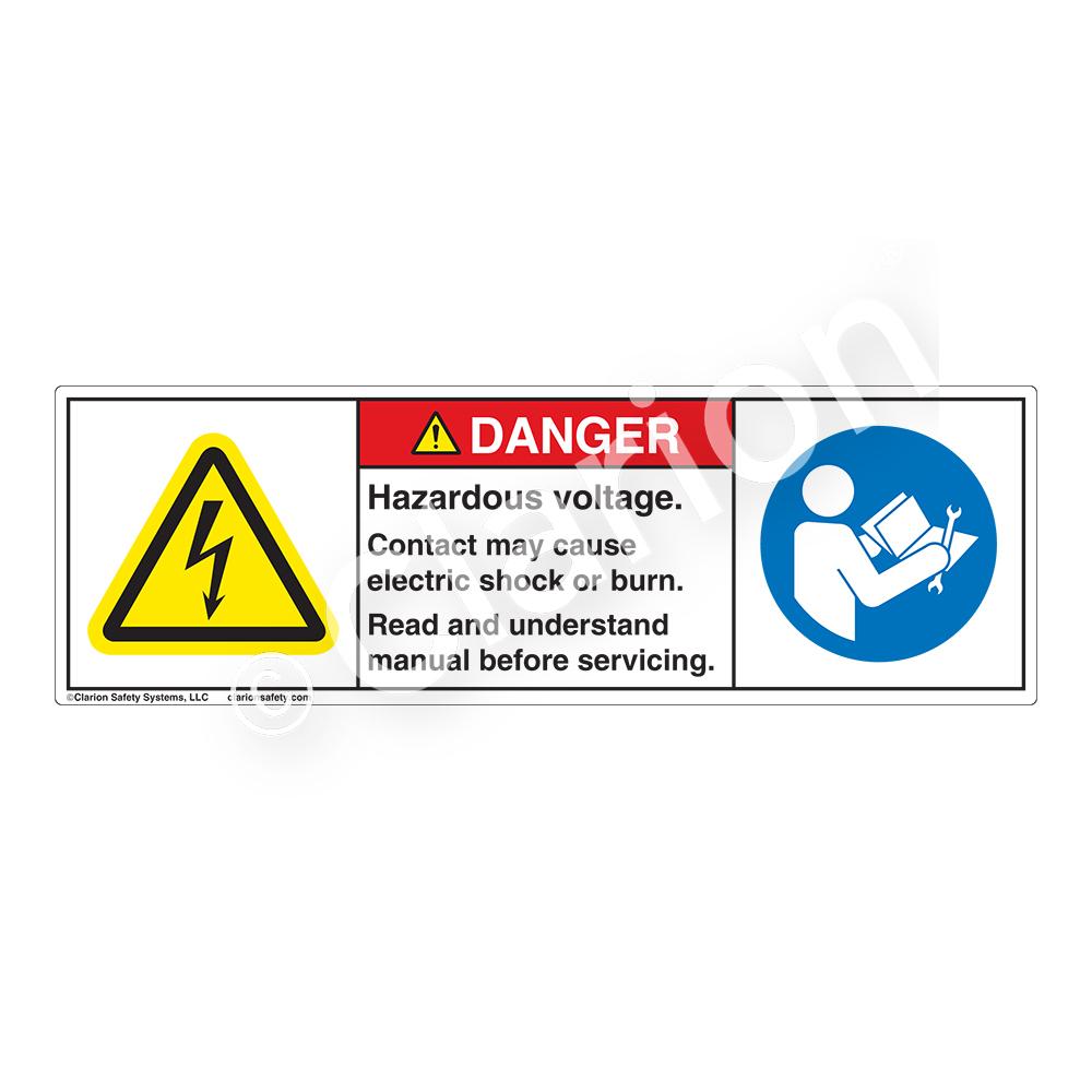 Electrical hazard safety labels clarion safety systems dangerhazardous voltage buycottarizona