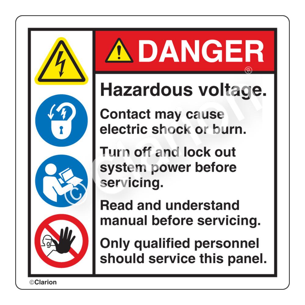Danger - Hazardous Voltage, H6010/6011/6126/6062-233DHP-27 (HMS ...
